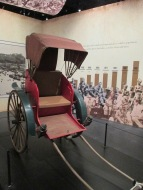 One of the rickshaws that used to be the most popular method of transportation for the Europeans