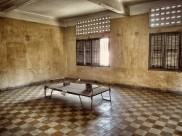 Rooms where torture occurred - when the Khmer Rouge left this place, their last 14 victims were still on these beds