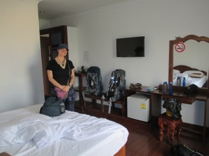 Our room at the Emerald BB in Battambang, Cambodia