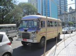 One of the older buses on the Yangon streets