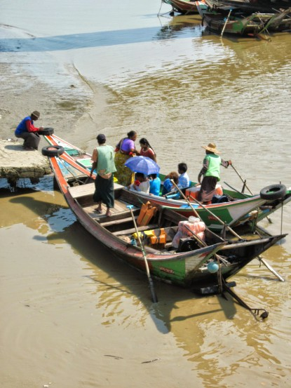 The only way across the river at this point was a small ferry boat