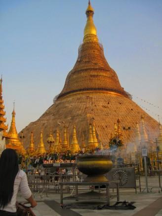 The stupa at sunset
