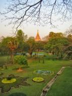 Shwedagon Paya in the distance