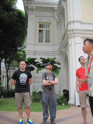 Wei leading our tour