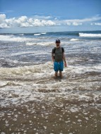 Walking the beach in Seminyak