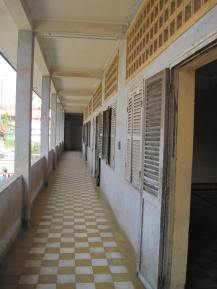 A corridor- once for students and later for torture victims