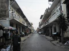 Older shophouses on the left, newer shophouses on the right