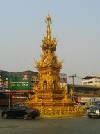 Chiang Rai clock tower... looks a bit different than the ones in Europe