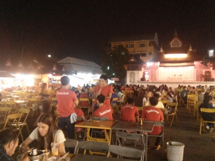 The night market food court