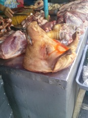 Yes... that is a pig's head
