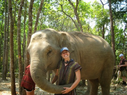 One year ago this month, we were playing with elephants in a Karen village in Northern Thailand.