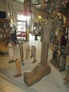 The happier part of the exhibit about prosthetics