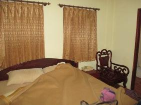 Della and Eric's hotel room