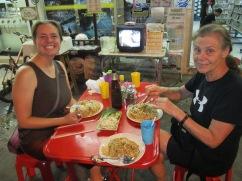 Pad thai street noodles in Chiang Rai