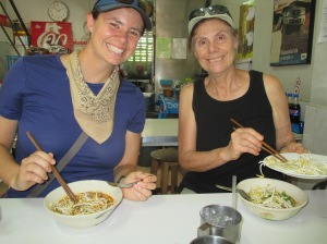 Enjoying our khao soi