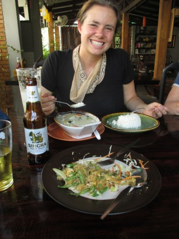Green curry and pad thai in Sukhothai