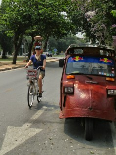 Ayuthaya had cute tuk tuks - a whole new style!