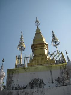 The stupa on top