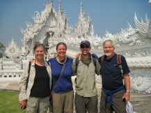 The group in front of the White Temple
