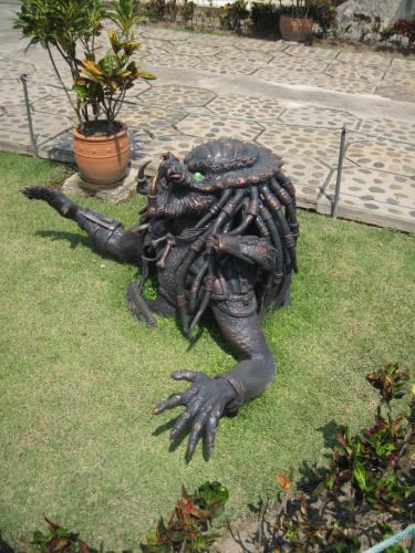 Scary lawn ornamentation