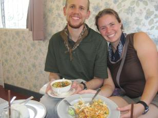 A curry and noodles at a cafe near Nonni Guesthouse