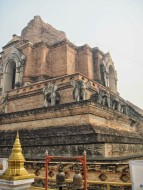 Parts of Chedi Luang have been restored