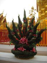 A cool naga image made of plants