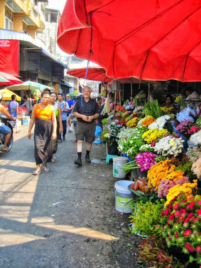 Lively colorful market
