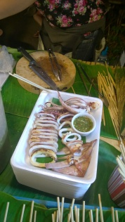 Wayne really enjoyed this freshly-grilled squid at the night market