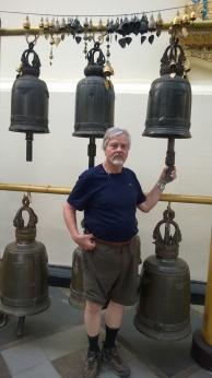Wayne enjoyed ringing the bells