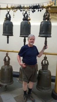 Wayne enjoyed ringing the bells