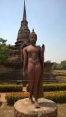 A Sukhothai-style walking Buddha