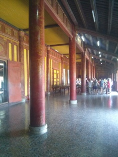 Inside the Thai Hoa Palace - the only picture we got since they are restricted in most places