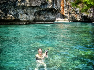 Della snorkeling