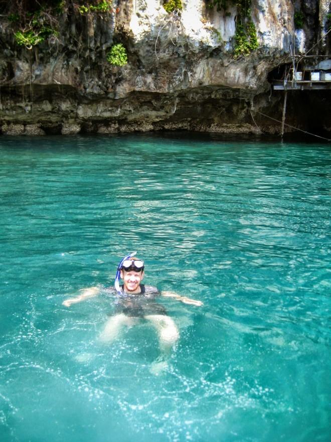 Eric snorkeling