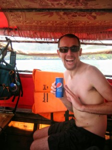 We couldn't take any pictures of the cave since we had to swim into it, but we did get to enjoy a Pepsi afterwards