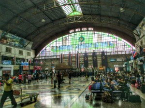 The Bangkok train station