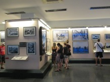 Photographs in the museum
