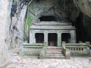 Little temple built in a cave
