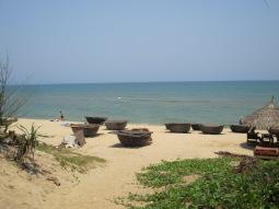 An Bang Beach. Those circular things are the local fishing boats