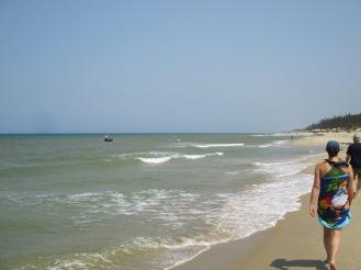 Taking a walk down the beach