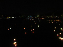Lanterns floating down the river