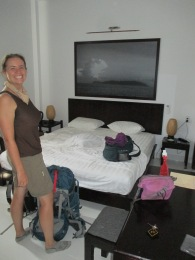 Our room was quite spacious!