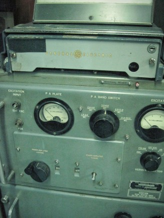 Old radio equipment in the basement bunker