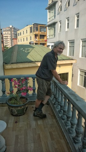 Wayne enjoys another balcony