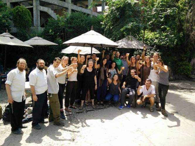 Team Bamboo plus the staff of the Chabad House