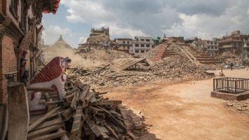 The platform on the right is Maju Deval. Photo source http://abcnews.go.com/International/nepals-historic-landmarks-earthquake/story?id=30615475