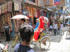 Colorful rickshaw ride