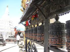 Prayer wheels. Spinning one sends a prayer up to heaven