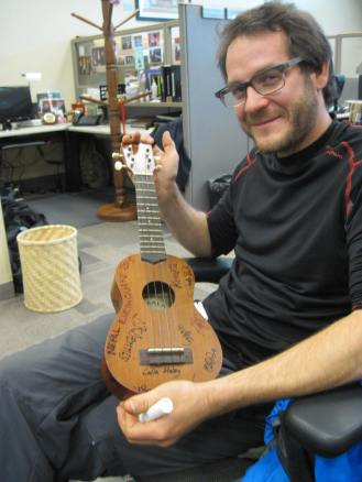 The staff at the embassy had everyone sign a ukelele (not the same one as used at Bamboo)